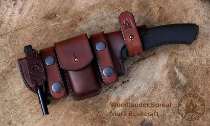 Boreal sheath for Morakniv Bushcraft knife dark brown