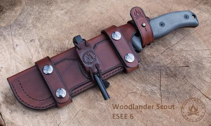 Scout sheath ESEE 6 dark brown