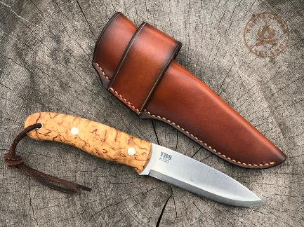 TBS Boar Trapper sheath dark tan